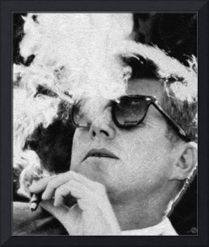 John F. Kennedy Cigar And Sunglasses 1