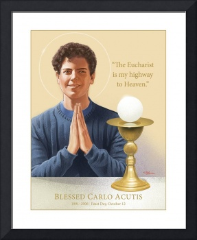 Blessed Carlo Acutis, with His Eucharist Quote