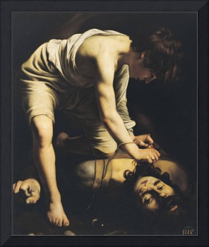 David Victorious over Goliath by Caravaggio