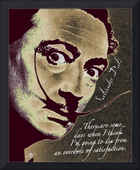 Salvador Dali Pop Art Painting And Signature With