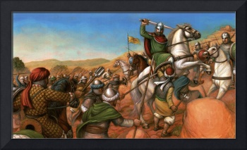 El Cid Battles atop his Andalusian