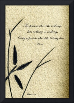 Zen Sumi 4c Antique Motivational Flower Ink