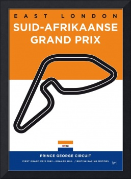 My F1 EAST LONDON Track Minimal Poster