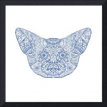 Fennec Fox Head Mandala
