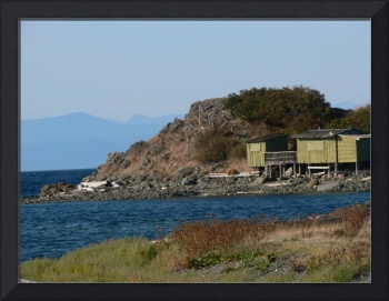 Squatter shack on the beach in Nanaimo, BC