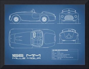 Ferrari 166 Blueprint