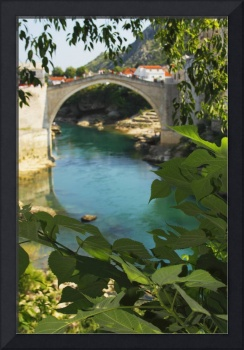 Old Town Bridge Over The River Neretva, Bosnia and