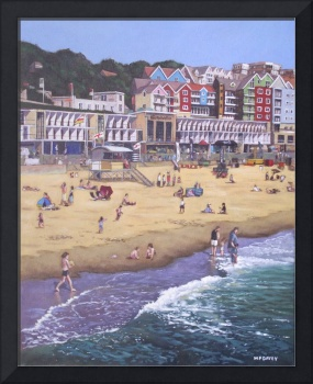 Bournemouth boscombe beach sea front