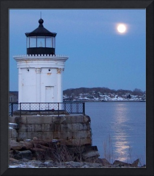 Bug Light With Wolf Moon Rising