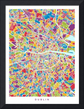 Dublin Ireland City Map