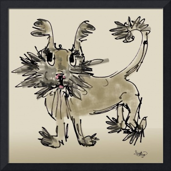 Unwanted Shelter Pup - Mixed Media Drawing by Gine