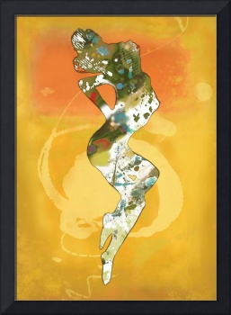Nude dancing pop stylised art poster