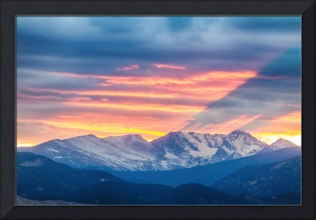 Colorado Rocky Mountain Sunset Waves Of Light Part