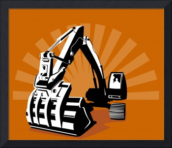 Mechanical Digger Excavator Retro