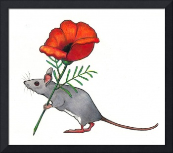 Mouse Carrying Flower