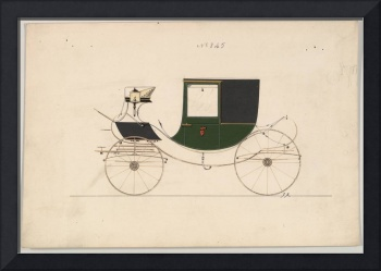 Design for Chariot D'Orsay, no. 845 Brewster & Co.