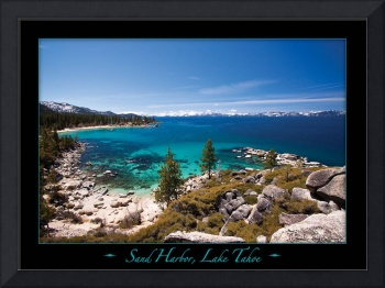 Sand Harbor, Lake Tahoe on Black