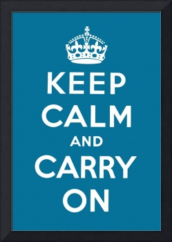 Blue Keep Calm And Carry On 4