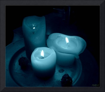 Candles in Blue