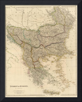 Vintage Map of The Balkans (1832)