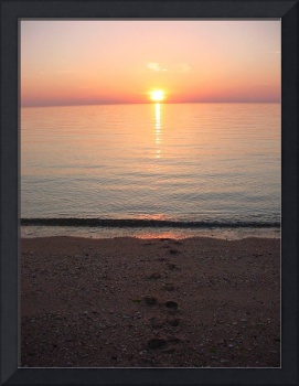 Sunsetting footsteps