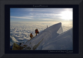 Everest climbers close to 3rd step, Tibet