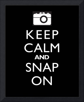 Keep Calm and Snap On BLACK