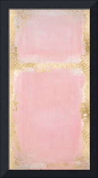 Pink And Gold Abstract Art Painting