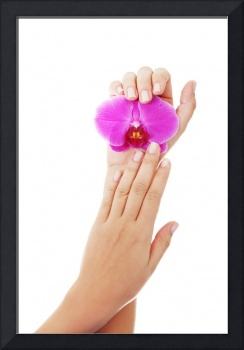 Hands care concept. Close up shoot of beautiful fe