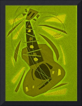 dancing guitar (yellow green)