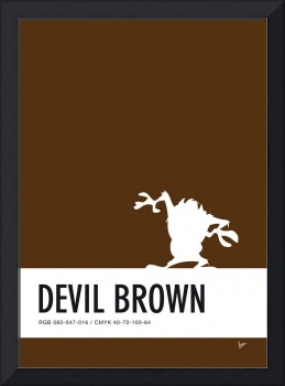 No16 My Minimal Color Code poster tasmanian devil