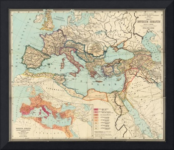 Vintage Map of The Roman Empire (1889)