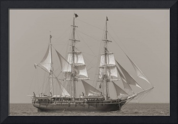 Charles W Morgan 38th Voyage Provincetown Sepia