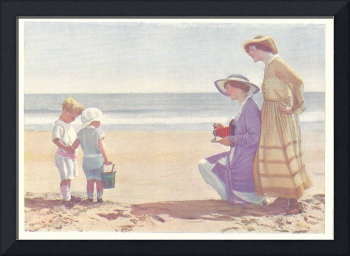 AT THE BEACH 1916