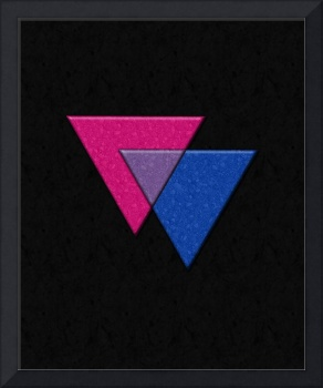 Triangles Symbol - Bisexual Pride Flag