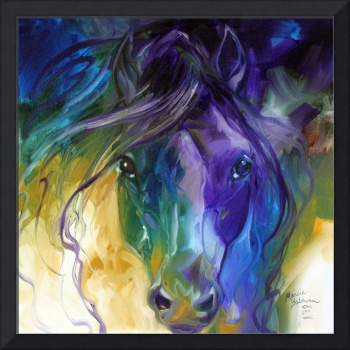 ABSTRACT BLUE ROAN