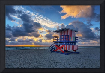 The Patriotic One ~ 13th Street Lifeguard Tower