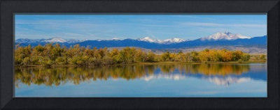 Rocky Mountain Front Range Autumn Panorama