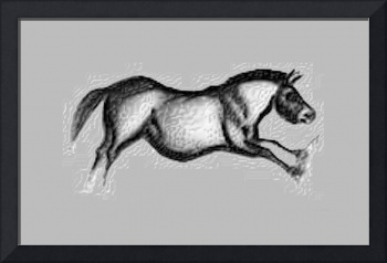 Prehistoric Galloping Horse Grey