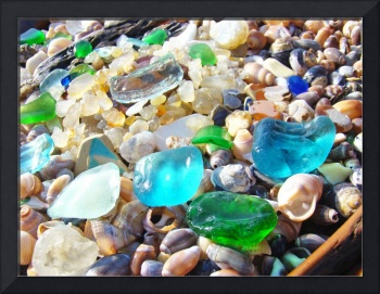 Beach Seaglass Blue Green art prints Coast Sea Gla