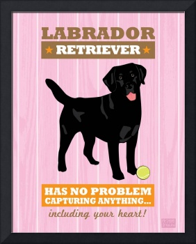 Labrador Retriever2 Pink/Orange