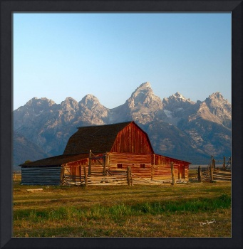 Grand Teton National Park Barn Sunrise