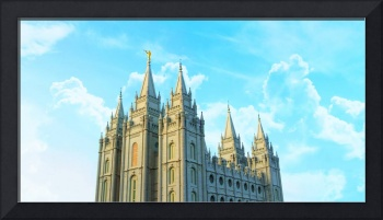 Salt Lake Temple with Clouds