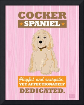 Cocker Spaniel Pink/Orange