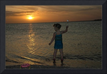 Young Girl at Sunset II