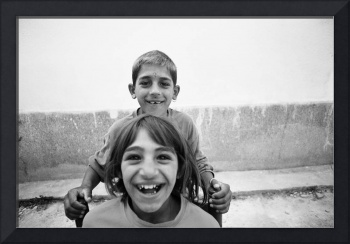 beautufull smile of brother and sister