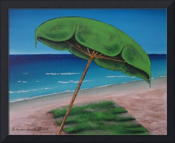 Green Beach Umbrella