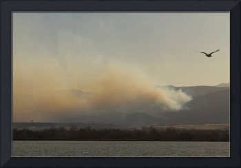 Lefthand Canyon Wildfire Across the Lake View