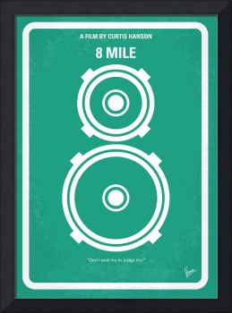 No491 My 8 Mile minimal movie poster