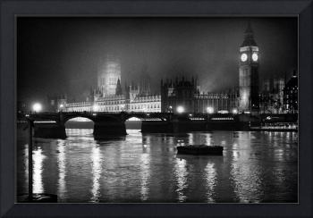 Westminster, a Foggy Night, London